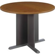 Bush Westfield 42 Round Conference Table, Cafe Oak, Fully assembled