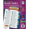 Ready Index Double-Column Table of Contents Dividers, 32-Tab Set, Punched