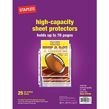 Staples High Capacity Sheet Protectors