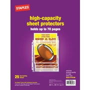 Staples High Capacity Sheet Protectors, 25/Pack (15944)