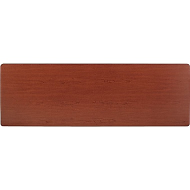 basyx by HON 6' Rectangular  Laminate Training Table Top, Bourbon Cherry, 24in. Wide