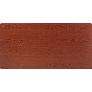 basyx by HON 5' Rectangular  Laminate Training Table Top, Bourbon Cherry, 30in. Wide
