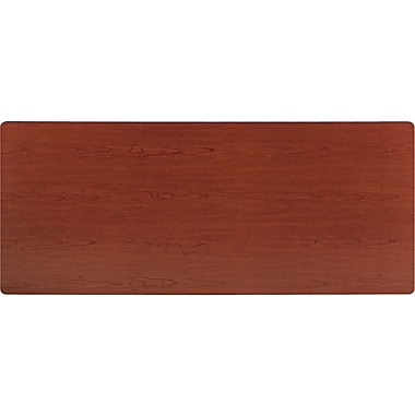 basyx by HON 6' Rectangular  Laminate Training Table Top, Bourbon Cherry, 30in. Wide