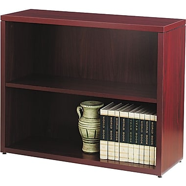 HON 10500 Series 2-Shelf Bookcase, Mahogany