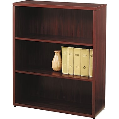 HON® 10500 Series Wood Laminate Bookcases - 3-Shelf, Mahogany