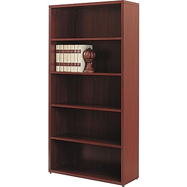HON® 10500 Series Wood Laminate Bookcase - 5-Shelf, Mahogany