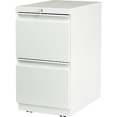 HON Brigade™Series Vertical Mobile File Cabinet with in.Rin. Pull, 23in. 2 Drawer, Letter Size, Light Gray