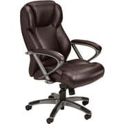 Tiffany Industries Leather Seating Series High Back Chair, Burgundy