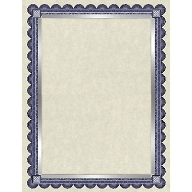 Southworth® Foil Enhanced 24 lb. Parchment Certificates, Ivory/Blue
