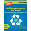 Staples® 100% Recycled Multipurpose Paper, Ream