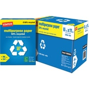 "Staples 50% Recycled Multipurpose Paper 8 1/2"" x 11"", Case"