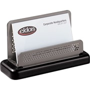 Rolodex™ Distinctions Punched Metal & Wood Business Card Holder