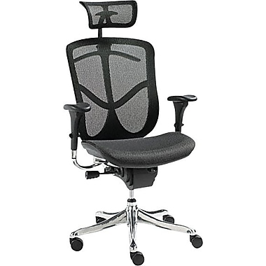 Alera® EQ Series Ergonomic Multifunction High-Back Chair, Aluminum Frame