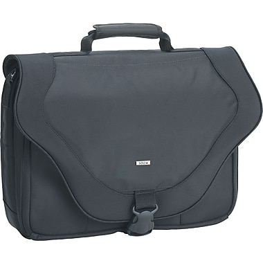 SOLO® Ballistic Poly Laptop Messenger Bag, Black, 17in.