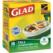 Glad® Biodegradable Compost Bags, Large, 10-Pack