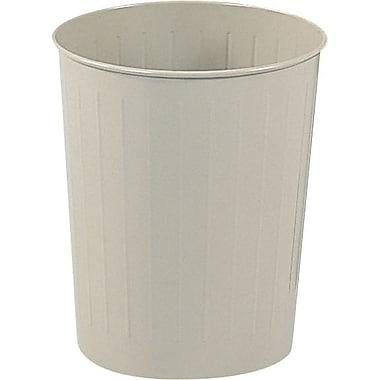 Safco® 9604 Round Wastebasket, Sand, 6 gal.