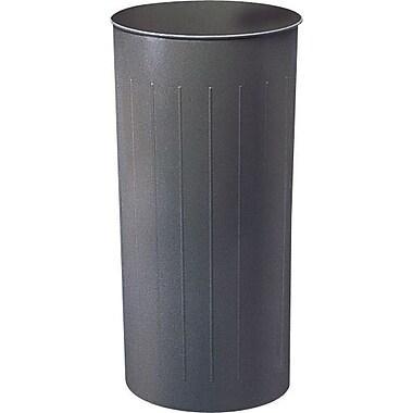 Safco® - Corbeille ronde ignifuge, gris charbon