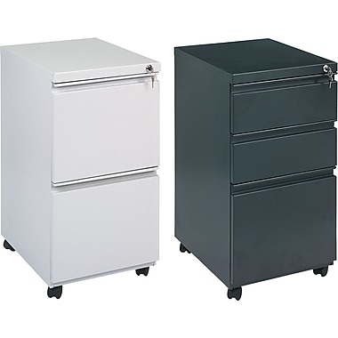 DBS Alera 19in. Deep, 2 and 3 Drawer Full Length Pull Mobile Vertical File Cabinets
