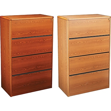 HON® 10700 Series 36in. Wide 4 Drawer Lateral Wood File Cabinets