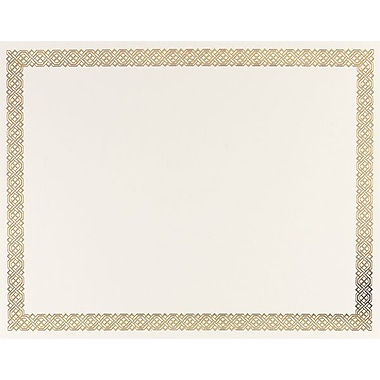 Great Papers® Braided Foil Border Certificate, 15/Pack