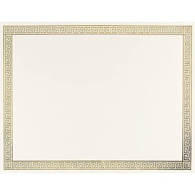 Great Papers 174 Channel Gold Foil Border Certificate Staples 174