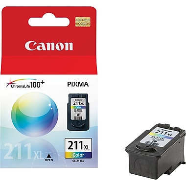 Canon CL-211XL Color Ink Cartridge (2975B001), High Yield