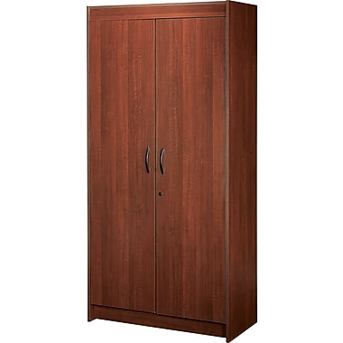 Star kraz locking storage cabinet cayenne cherry staples - Armoire plastique de rangement ...
