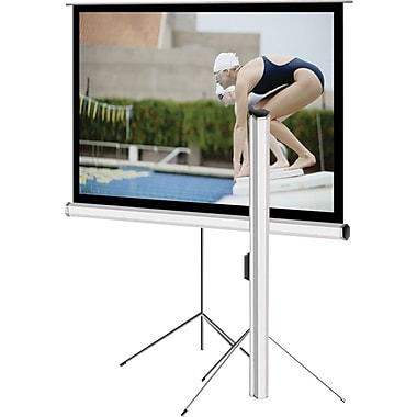 Elite Screens Tripod Series 113in. Portable Projector Screen, 1:1, White Casing