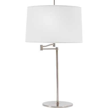 Fangio Incandescent/CFL Swing Arm Table Lamp, Brushed Steel