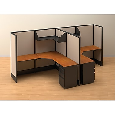 Double Workstation Solution, Two Cubes, 66in. x 72in. x 144in.