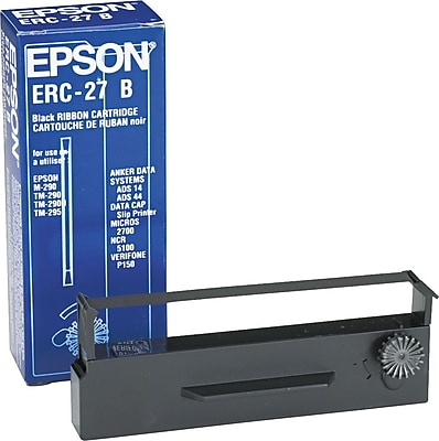 Epson ERC 27B Nylon Cash Register Ribbon Black ERC27B