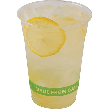 Eco-Product Compostable Corn Plastic Cold Cups, 16 oz., 50/Pack