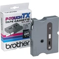 Brother 1/4in. Black on White tape