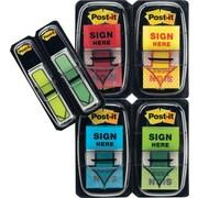 Post-it® - Languettes « Sign Here », 1 po, avec fléchettes de 1/2 po en prime, variées, paq./248