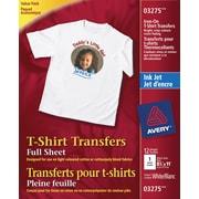 Avery® InkJet T-Shirt Iron-On Transfers