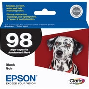 Epson® 98 (T098120) Black Ink Cartridge, High-Yield