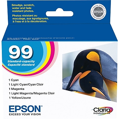 Epson® 99 (T099920) Colour Ink Cartridges, Combo Pack