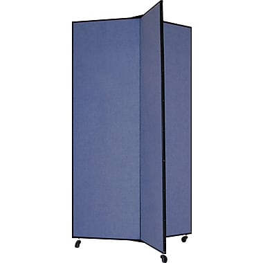 Screenflex 69in. Three Wing Mobile Display Tower, Blue