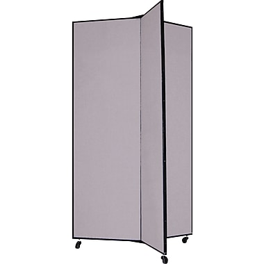 Screenflex 69in. Three Wing Mobile Display Tower, Gray
