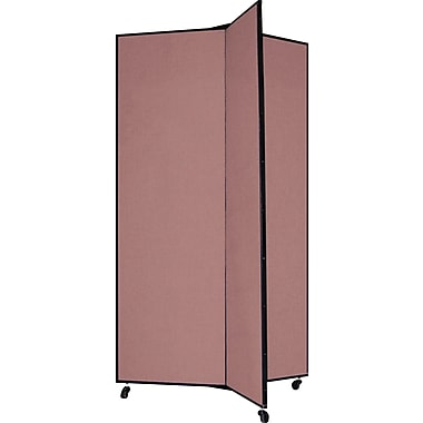 Screenflex 69in. Three Wing Mobile Display Tower, Mauve