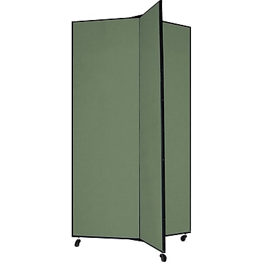 Screenflex 69in. Three Wing Mobile Display Tower, Green