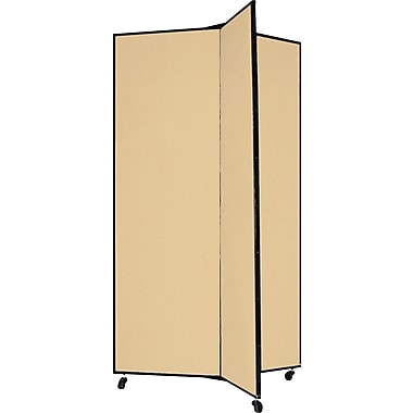 Screenflex 69in. Three Wing Mobile Display Tower, Wheat
