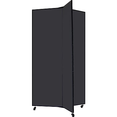 Screenflex 69in. Three Wing Mobile Display Tower, Black