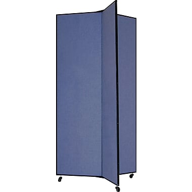 Screenflex 77in. Three Wing Mobile Display Tower, Blue