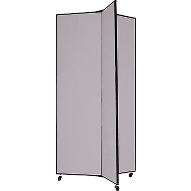 Screenflex 77in. Three Wing Mobile Display Tower, Gray