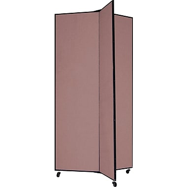 Screenflex 77in. Three Wing Mobile Display Tower, Mauve