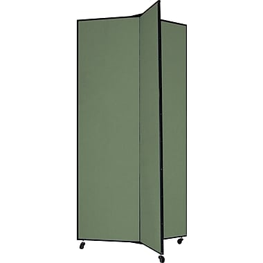 Screenflex 77in. Three Wing Mobile Display Tower, Green