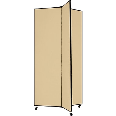 Screenflex 77in. Three Wing Mobile Display Tower, Wheat