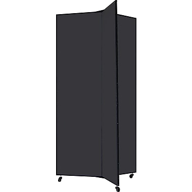 Screenflex 77in. Three Wing Mobile Display Tower, Black