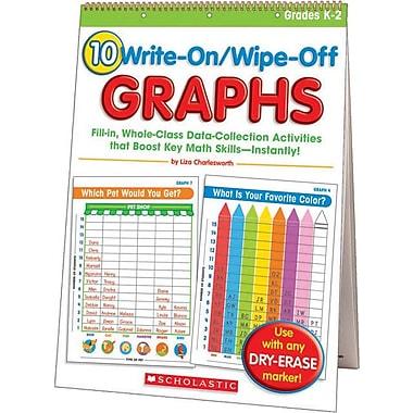 10 Write-On/Wipe-Off Graphs Flip Chart